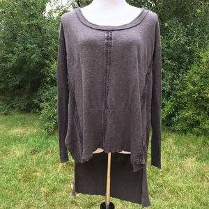 Free People linen cotton sweater Size medium
